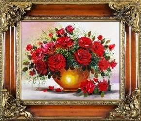 """Obraz """"Roze"""" ręcznie malowany 65x75cm"""