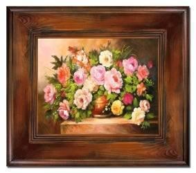 """Obraz """"Roze"""" ręcznie malowany 66x76cm"""