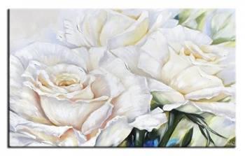 """Obraz """"Roze"""" ręcznie malowany 76x113cm"""
