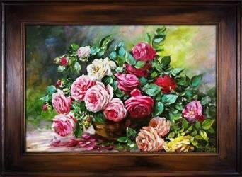 """Obraz """"Roze"""" ręcznie malowany 86x116"""