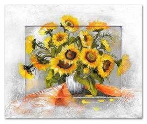 Obraz - Sloneczniki - olejny, ręcznie malowany 46x56cm