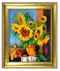 """Obraz """"Sloneczniki"""" ręcznie malowany 54x64cm"""