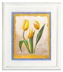 """Obraz """"Tulipany"""" ręcznie malowany 27x32cm"""