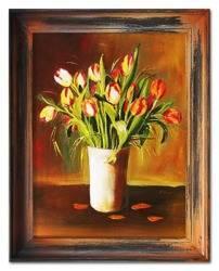 """Obraz """"Tulipany"""" ręcznie malowany 37x47cm"""
