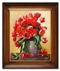 """Obraz """"Tulipany"""" ręcznie malowany 53x64cm"""