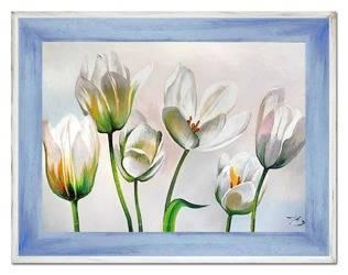 """Obraz """"Tulipany"""" ręcznie malowany 72x92cm"""