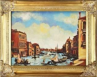 """Obraz """"Wenecja"""" ręcznie malowany 37x47cm"""