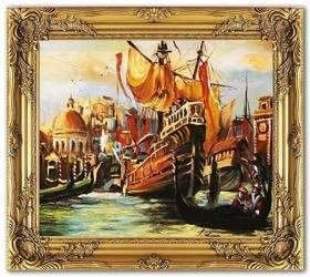 """Obraz """"Wenecja"""" ręcznie malowany 53x64cm"""