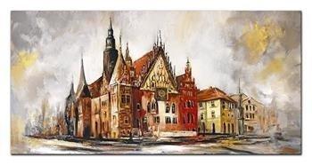 """Obraz """"Wrocław"""" ręcznie malowany 160x80cm"""