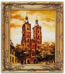 """Obraz """"Wrocław"""" ręcznie malowany 53x64cm"""