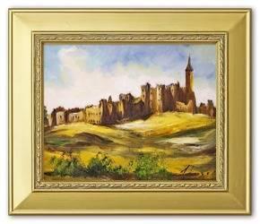 """Obraz """"Zamki i Palace"""" ręcznie malowany 27x32cm"""