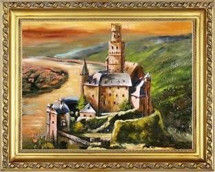 """Obraz """"Zamki i Palace"""" ręcznie malowany 37x47cm"""