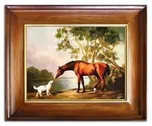 """Obraz """"Zwierzęta"""" ręcznie malowany 46x56cm"""