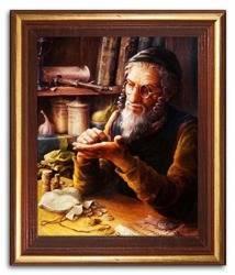 """Obraz """"Żyd na szczęście"""" reprodukcja 24x29cm"""