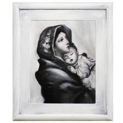 Obraz ręcznie malowany Maryja 27x32cm