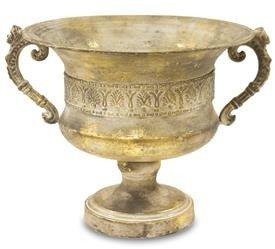 Osłonka Metalowa Złota Wazon Amfora 25x33x28 cm