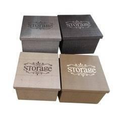 Pudełko organizer brązowy 22 x 22 x 17