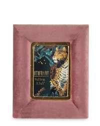 Ramka Na Zdjęcie Stojąca Różowy aksamit H:17,5 cm