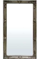 Stylowa Zdobna Rama Lustro Srebro 134x74 Rama:8 cm