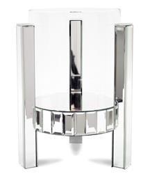 Szklany Pojedynczy Świecznik Srebrny 34x24x23 cm