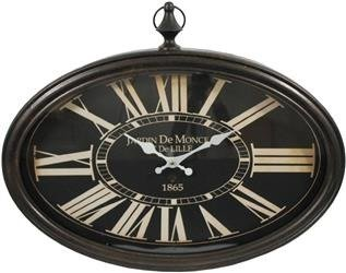 Zegar Rzymski Wiszący Retro Czarny 50x40cm