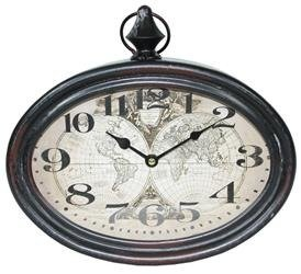 Zegar Ścienny Retro Mapa Świata 29,5x28cm