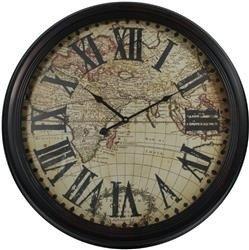 Zegar ścienny Mapa Świata 61,5x6,5cm