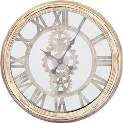 Zegar stojący Motyw Retro W Koła Zębate 62x62cm