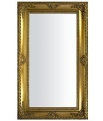 Złote Lustro w Zdobnej Drewnianej Ramie 150x90x4cm