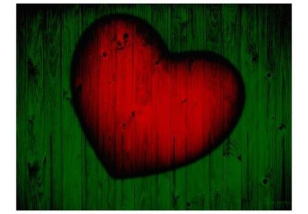 Fototapeta - Drewniana miłość