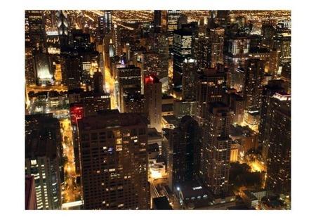 Fototapeta - Miasto nocą - Chicago, USA