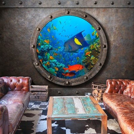 Fototapeta - Okno łodzi podwodnej