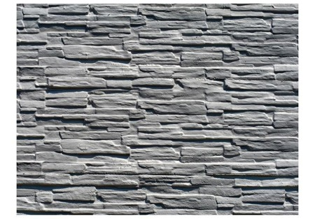 Fototapeta - Szara kamienna ściana