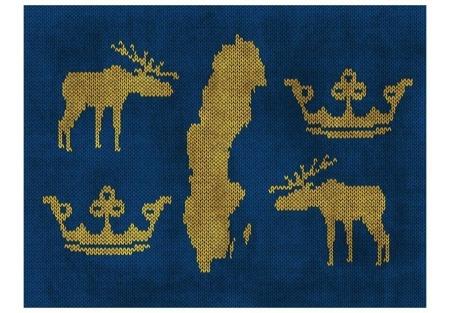 Fototapeta - Szwecja - symbole