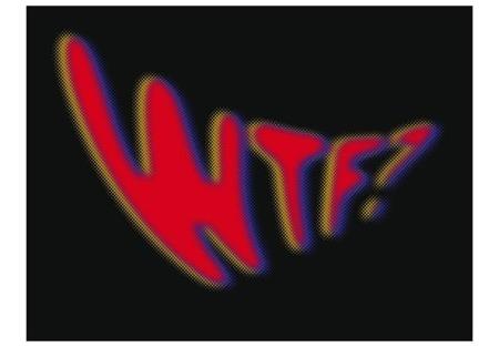 Fototapeta - WTF? in redness