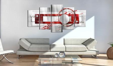 Obraz na szkle akrylowym - Karmazynowa energia [Glass]