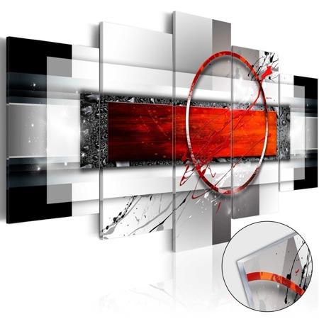 Obraz na szkle akrylowym - Karminowy pocisk [Glass]