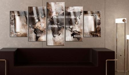 Obraz na szkle akrylowym - Platynowa mapa [Glass]