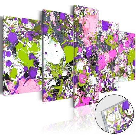 Obraz na szkle akrylowym - Potoki kolorów [Glass]