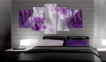 Obraz na szkle akrylowym - Purpurowa utopia [Glass]