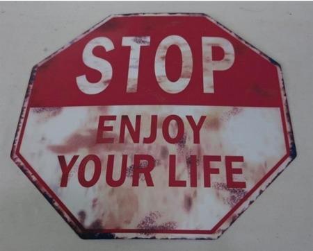 Obrazek metalowy Stop